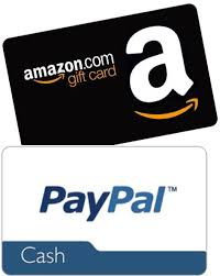 amazon and paypal gift cards