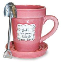 flower mug pink