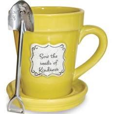 flower mug yellow